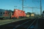 Amtrak MoW Catenary Service Train with EMD GP9 No. 765 providing power