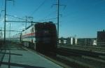 Northbound Amtrak Passenger Train with GE E60 No. 969 providing power