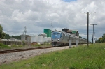 """Amtrak Train No. 91, the """"Silver Star"""", with GE P42DC """"Genesis"""" Locomotive No. 136 in the lead"""