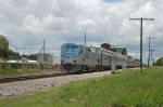 """Southbound Amtrak Train No. 91, the """"Silver Star"""", with GE P42DC """"Genesis"""" Locomotive No. 136 in the lead"""