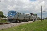 "Southbound Amtrak Train No. 91, the ""Silver Star"" with GE P42DC ""Genesis"" Locomotive No. 136 providing power"