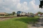 "Southbound Amtrak Train No. 91, the ""Silver Star"", with GE P42DC ""Genesis"" Locomotive No. 80 providing power"