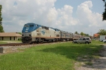 """Southbound Amtrak Train No. 91, the """"Silver Star, with GE P42DC """"Genesis"""" Locomotive No. 80 in the lead"""