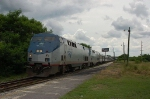 "Northbound Amtrak Train No. 92, the ""Silver Star"" with GE P42DC ""Genesis"" Locomotive No. 136 in the lead"