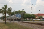 Eastbound, Tampa to Orlando, Amtrak Passenger Train, with GE P42DC No. 17 in the lead, crosses South Palmer Street