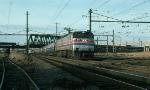 Southbound Amtrak (AMTK) Passenger Train led by GE E60 No. 960