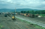 Northeast bound Delaware and Hudson Railway Mixed Freight Train, with EMD GP39-2 No. 7417 in the lead,