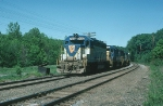 Westbound Delaware & Hudson Railway (DH) Mixed Freight Train