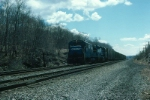 Northbound Conrail Mixed Freight Train with GE U30B No. 2834 in the lead