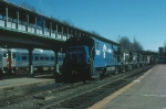 Northbound Conrail Mixed Freight Train with GE U30B No. 2850 in the lead