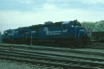 Conrail (CR) EMD SD45 No. 6147 and GE U28C No. 6521