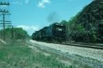Southbound Conrail Mixed Freight Train with GE U33B No. 2898 on point