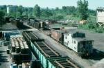 Conrail MoW Work Train with Alco RS3 No. 5507 providing power