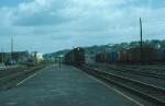 """Westbound Conrail Mixed Freight Train """"BOSE"""", with EMD SD45 No. 6106 in the lead,"""