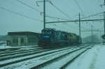 Southbound Conrail Diesel Power with GE B23-7 No. 1916 in the lead,