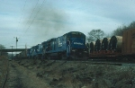 "Southbound Conrail Mixed Freight Train ""SELI"" with three GE B23-7's providing power"