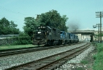 Westbound Conrail (CR) Mixed Freight train with EMD GP38-2 No. 8139 in the lead