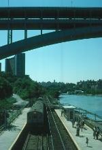 Passengers wait for a southbound MTA Commuter Train
