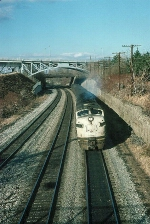 Southbound Metropolitan Transit Authority (New York) Commuter Train with Conrail EMD FL9 No. 5045 in the lead