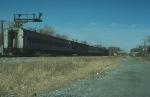 Going away shot of a Northbound Metropolitan Transit Authority (New York) Commuter Train
