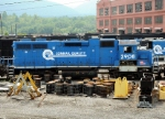 An ex-Conrail unit awaits it's fate at NS's Juniata shops