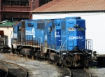 Two ex-Conrail unit awaits their fate at NS's Juniata shops
