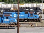 ex-Conrail units await their fate at NS's Juniata shops