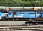 An ex-Conrail unit awaits its' fate at NS's Juniata shops