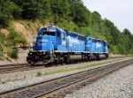 NS ( Ex-Conrail 6437) and NS 3336 ( Ex-Conrail 6366) run Westbound light