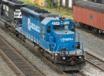 NS 3341 (EX-Conrail 6376) adds some breaking power to this NS train.