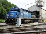 NS 3347 ( Ex-Conrail 6389) is getting some service at the Cresson Engine facility