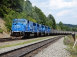 NS 6734 (Ex-Conrail 5605) leads a Westbound NS empty coal train
