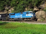 NS 7205 (Ex-Conrail 4109) glides around the curve