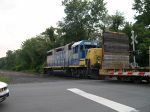 CSX 2673 Stopping At A Crossing To Back Up Onto A Siding