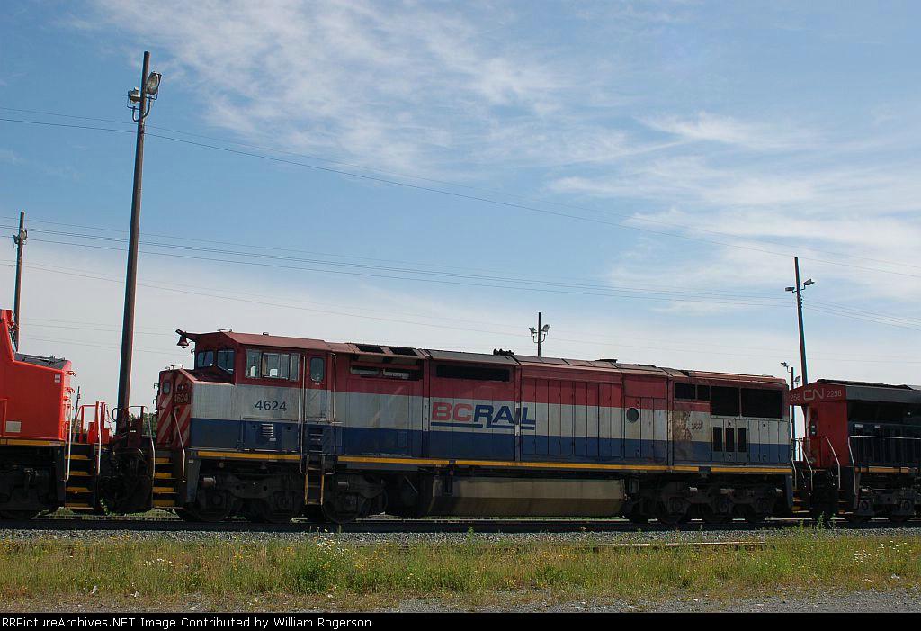 Canadian National Railway (BCOL) Ex BC Rail, Ltd. GE C40-8W No. 4624