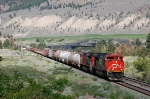 Westbound Canadian National Railway (CN) Mixed Freight Train