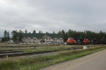 Eastbound Canadian National Railways Freight Train enters the Yard