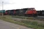 Westbound Canadian National Railways Freight Train departing the Yard