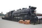 Canadian National Railways (CN) 4-8-2 Steam Locomotive No. 6015 on display