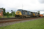 CSX 153 is westbound and down