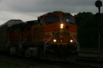 BNSF 4590 has the Automax train in horrible light