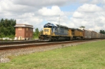 CSX 8447 leads a loaded auto train