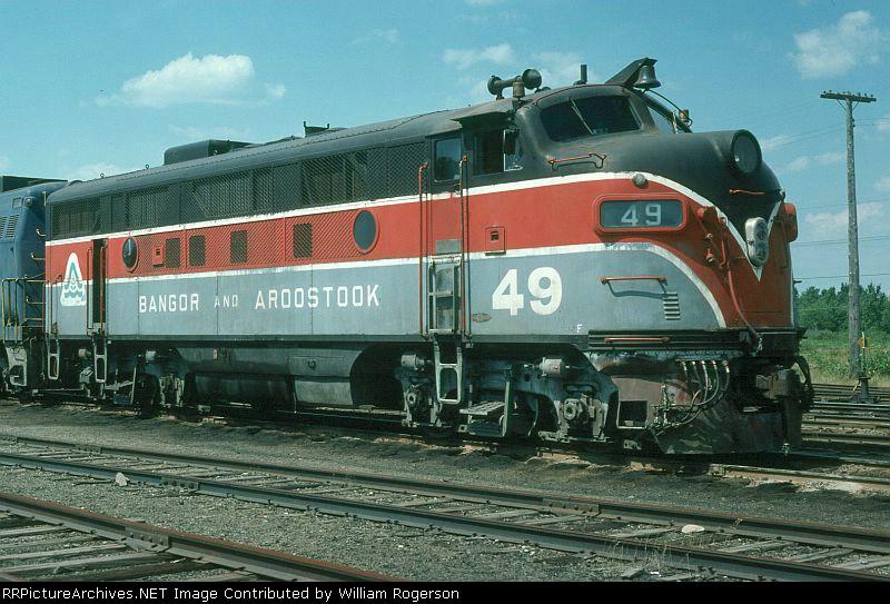 Bangor and Aroostook Railroad EMD F3A No. 49