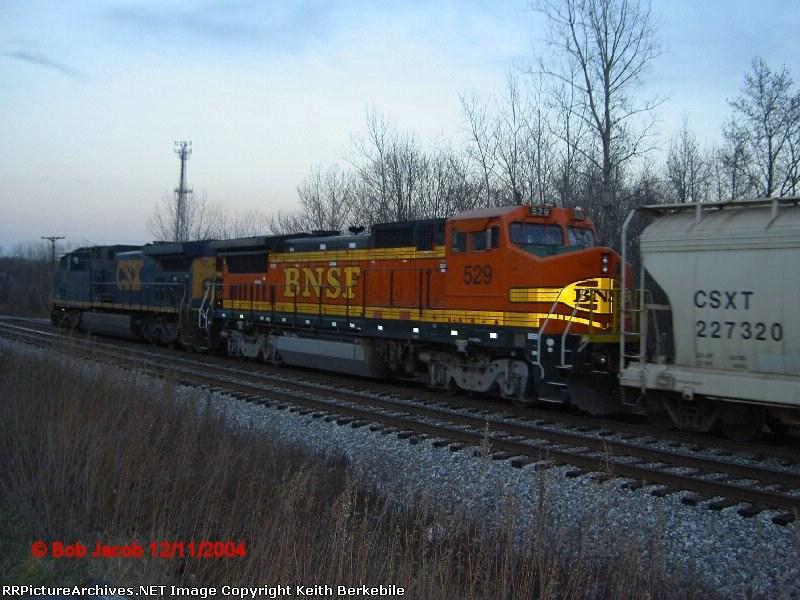 BNSF B40-8W #529