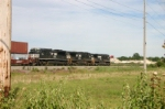NS 9273 is on a stack train