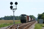 NS 7519 waits by the big Position Light signals