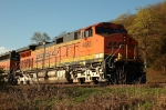 New BNSF Logo repaint on GE C44-9W leads southbound