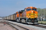 BNSF 5708 - 5876, GE AC4400W and ES44AC, work southbound coal loads