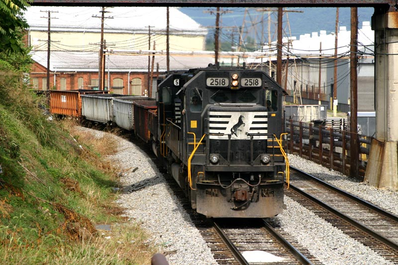 NS 2518 Heads Up The MOW Train