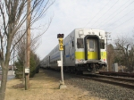 LIRR Train 2706 passes the ND Block Limit Signal